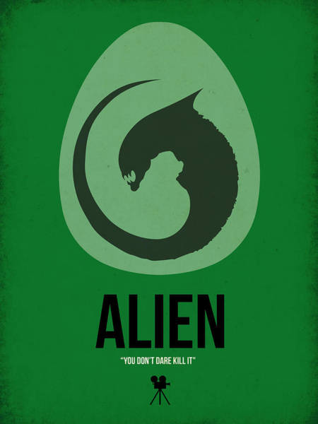 Wall Art - Digital Art - Alien by Naxart Studio