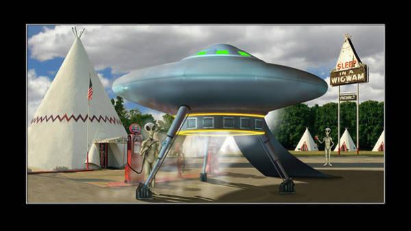 Wall Art - Photograph - Alien Vacation - Gas Stop, Kentucky by Mike McGlothlen