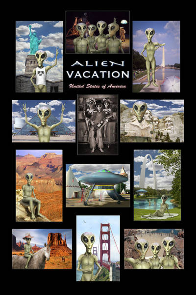 Spaceman Wall Art - Photograph - Alien Vacation - Poster by Mike McGlothlen