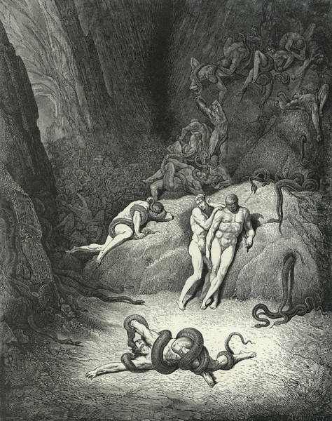 Wall Art - Painting - Alighieri La Divina By Dante by Gustave Dore