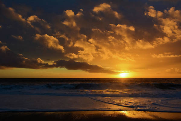 Photograph - Aliso Beach Golden Sunset by Kyle Hanson