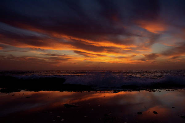 Photograph - Aliso Beach Reflection Sunset by Kyle Hanson