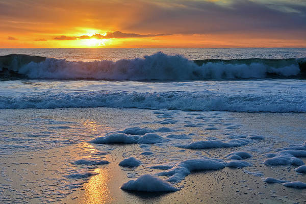Photograph - Aliso Beach Sea Foam Sunset by Kyle Hanson