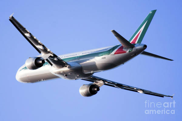 Alitalia Photograph -  Alitalia Commercial Flight E2 by Nir Ben-Yosef