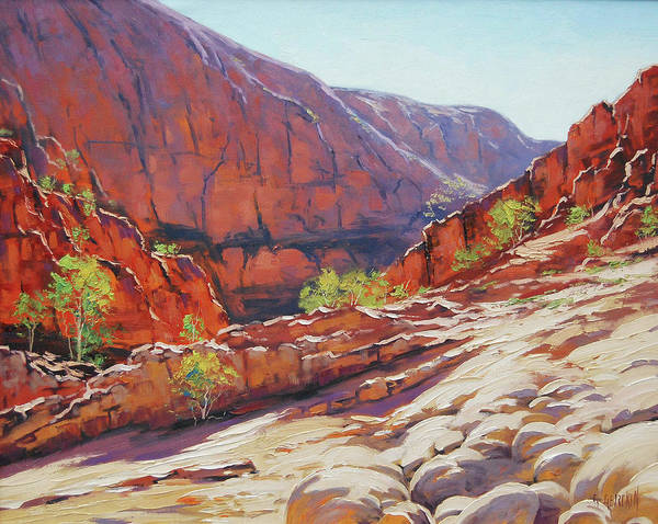 Wall Art - Painting -  Alive Springs Ormiston Gorge  by Graham Gercken