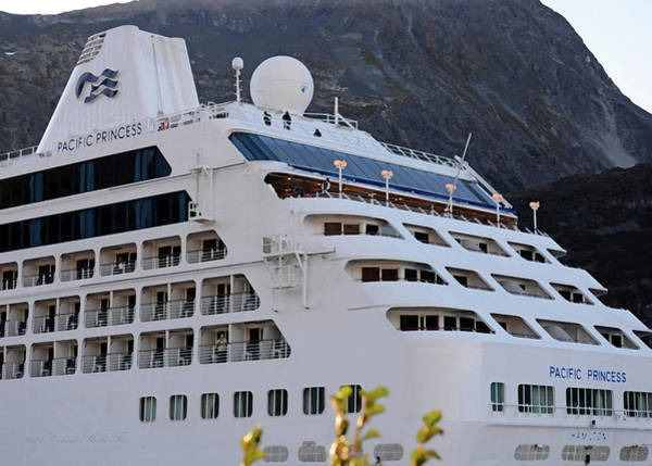 Wall Art - Photograph - All Aboard The Love Boat. Alaska Cruise Ship In Whittier  by Connie Fox