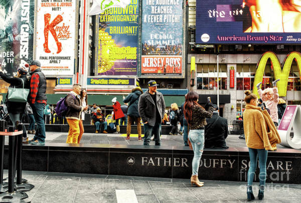 Wall Art - Photograph - All About The Selfie In Times Square by John Rizzuto