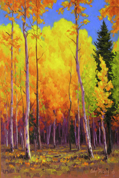 Aspen Painting - All Aglow by Cody DeLong