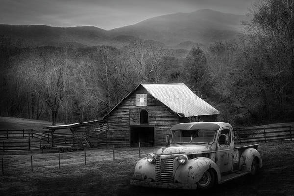 Photograph - All American Chevy In Black And White by Debra and Dave Vanderlaan