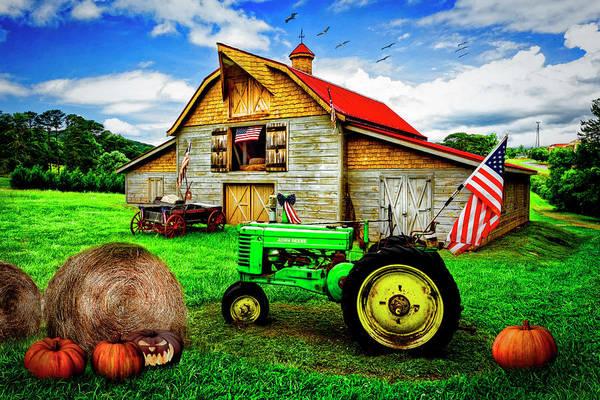 Photograph - All American Farm by Debra and Dave Vanderlaan