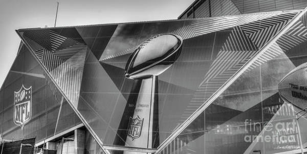 Wall Art - Photograph - All Dressed Up 8 B W Mercedes-benz Stadium Atlanta N F L Super Bowl 2019 Art by Reid Callaway