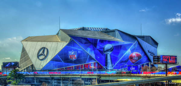 Photograph - All Dressed Up Mercedes Benz Stadium Atlanta Nfl Super Bowl 2019 Art by Reid Callaway