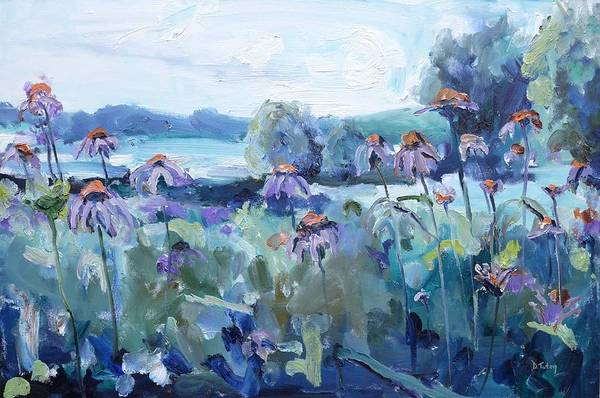 Painting - All Flowers In Time Bend Towards The Sun by Donna Tuten
