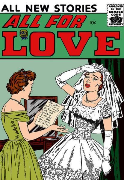 Digital Art - All For Love Distraught Bride by Joy McKenzie