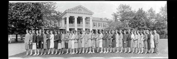 Wall Art - Photograph - All-girl School, Chevy Chase, Md by Fred Schutz Collection