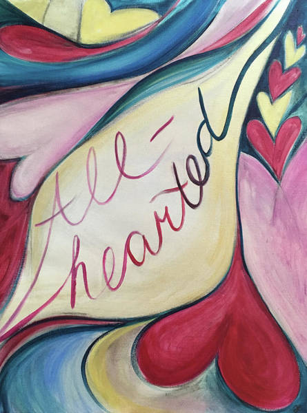 Painting - All Hearted by Anna Elkins
