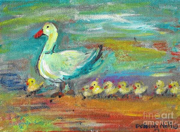 Painting - All Her Ducks In A Row by Deborah Nell