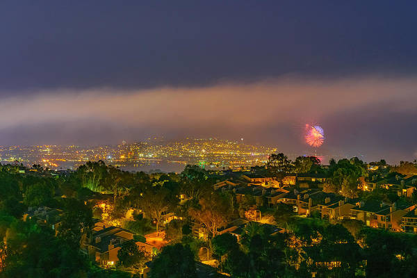 Mount Soledad Wall Art - Photograph - Fourth Of July Celebration At Mount Soledad, San Diego by McClean Photography