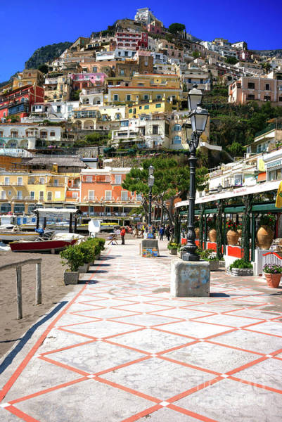 Wall Art - Photograph - All Roads Lead Up In Positano by John Rizzuto
