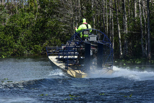 Airboat Photograph - All We Need Is Flipper by William Tasker