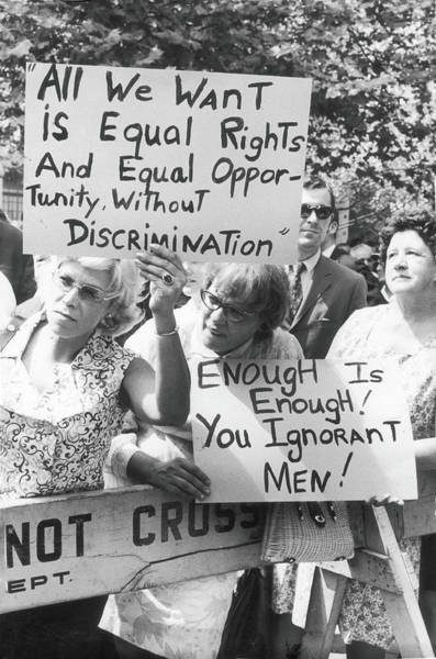 Equal Rights Photograph - All We Want Is Equal Rights by Fred W. McDarrah