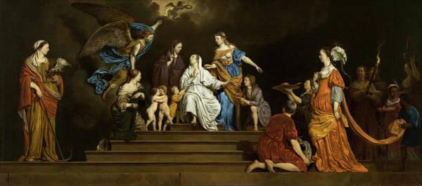 Vice Painting - Allegory, Innocence Between Virtues And Vices by Adriaen van de Velde