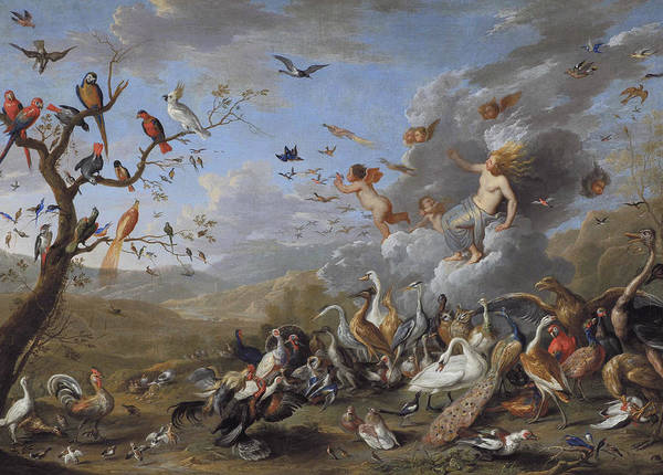 Painting - Allegory Of Air by Jan van Kessel the Elder