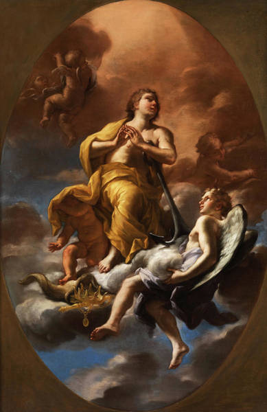 Wall Art - Painting - Allegory Of Hope And Happiness by Niccolo Ricciolini