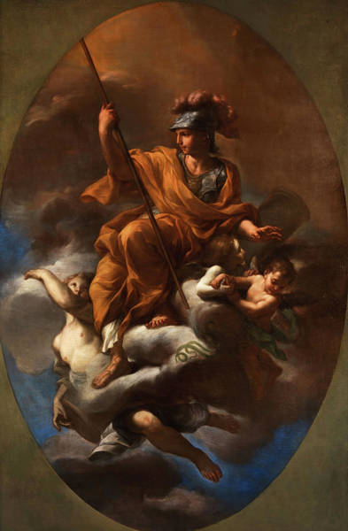 Wall Art - Painting - Allegory Of Strength by Niccolo Ricciolini