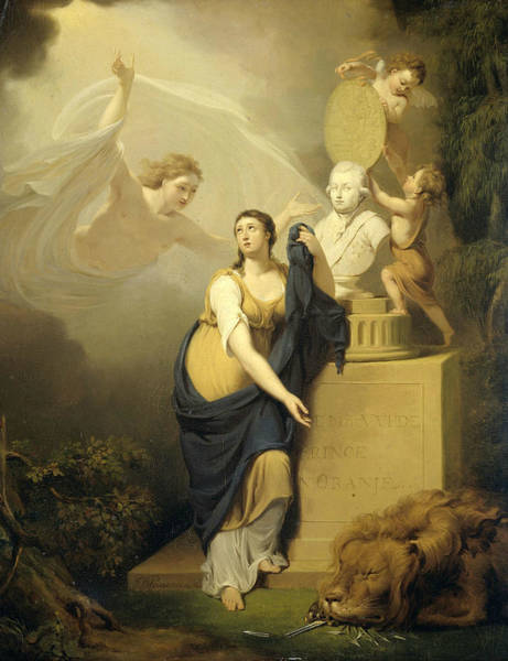 Painting - Allegory Of The Death Of Prince William V, 1806 by Jan Willem Pieneman