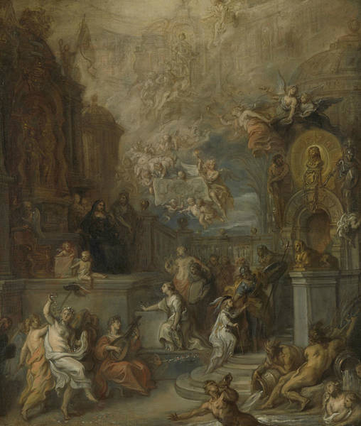 Painting - Allegory Of The Departure Of William IIi From Amalia Van Solms After The Transfer Of The Regency To  by Theodoor van Thulden