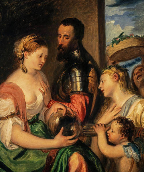 Spanish Wine Painting - Allegory Of The Marques Del Vasto by Thomas Duncan