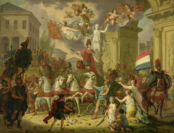 Wall Art - Painting - Allegory Of The Triumphal Procession Of The Prince Of Orange, As The Hero Of Waterloo, 1815 by Cornelis van Cuylenburgh