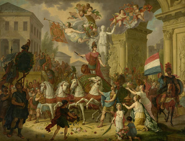 Painting - Allegory Of The Triumphal Procession Of The Prince Of Orange by Cornelis van Cuylenburgh