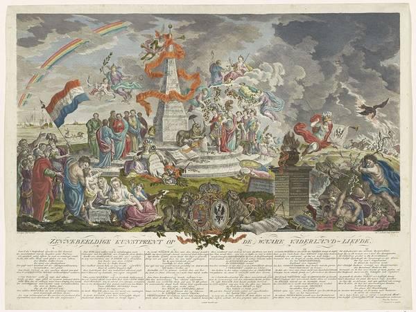 Metaphor Painting - Allegory On True Patriotism, 1788, Mathias De Sallieth, After Hieronymus Lapis, 1788 - 1790 by Mathias de Sallieth