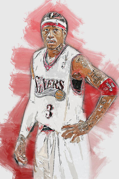 Painting - Allen Iverson - 11 by Andrea Mazzocchetti
