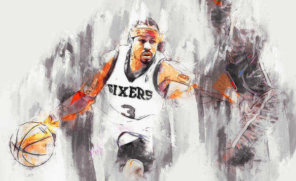 Painting - Allen Iverson - 13 by Andrea Mazzocchetti