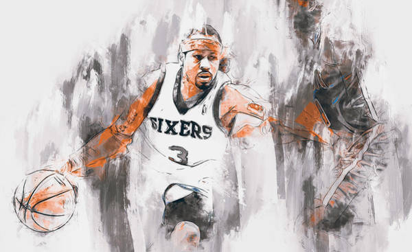 Painting - Allen Iverson - 14 by Andrea Mazzocchetti