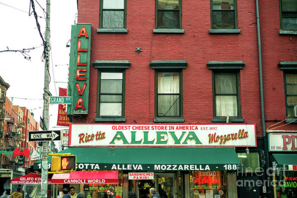 Photograph - Alleva In Little Italy New York City by John Rizzuto