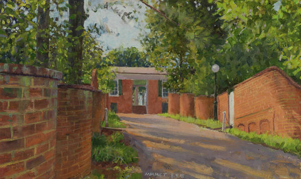 Wall Art - Painting - Alley Between Gardens Vi And Iv by Edward Thomas