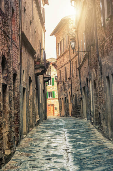 Tile Floor Wall Art - Photograph - Alley In A Tuscan Town by Cirano83