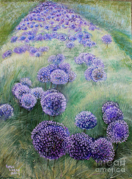 Wall Art - Painting - Alley Of Allium               by Lyric Lucas
