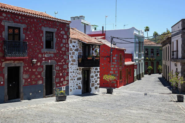 Wall Art - Photograph - Alley Typical Houses Old Town Santa Brigida Gran Canaria Canary Islands Spain by imageBROKER - Harry Laub
