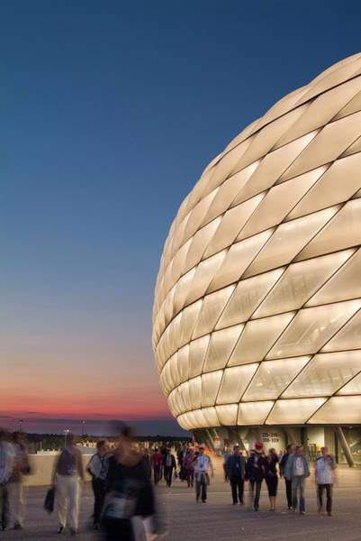 Photograph - Allianz Arena, Soccer Stadium, Munich by Ingrid Firmhofer / Look-foto
