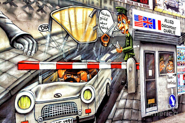 Photograph - Allied Checkpoint Charlie Mural On The Berlin Wall 2009 by John Rizzuto