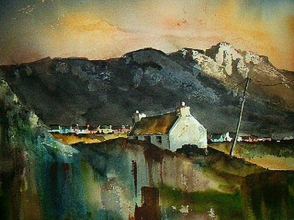 Painting - Allihies Sunset, Beara Peninsula, Co. Cork by Val Byrne