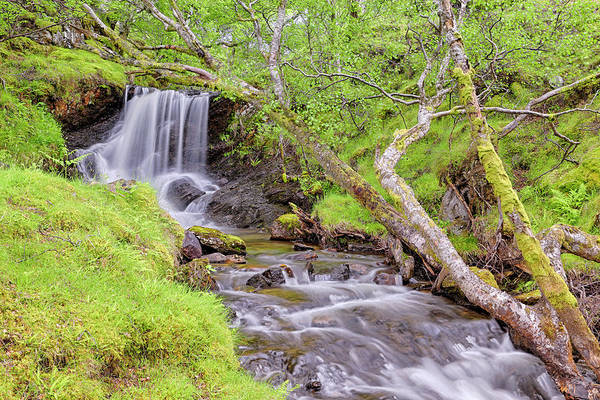 Photograph - Allt Leathan Waterfall Below Schiehallion - Scotland - Perthshire by Jason Politte
