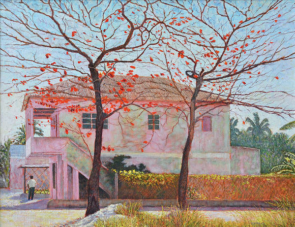 Painting - Almond Trees In February by Ritchie Eyma