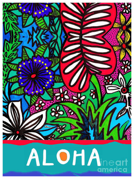 Wall Art - Mixed Media - Aloha Card 1 by A Hillman