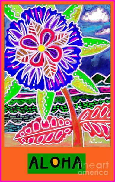 Wall Art - Mixed Media - Aloha Card 3 by A Hillman